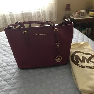Maroon Michael Kors Bag
